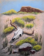 Steer Pastels - High Desert Odyssey by Richard Nervig