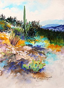 Tucson Originals - High Desert Scene 2 by M Diane Bonaparte