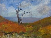 Pallet Knife Prints - High Fall Print by William Killen