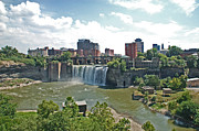 Rochester Skyline Framed Prints - High Falls Framed Print by Aimee L Maher