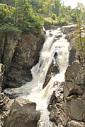 High Falls Gorge Prints - High Falls Gorge - M Print by Wayne Sheeler