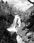 High Falls Gorge Prints - High Falls Gorge in Black and White Print by Tracy Winter