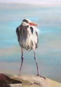 High Falls Heron Print by Debbie Anderson