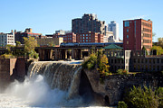 Rochester Skyline Framed Prints - High Falls Rochester New York Framed Print by Bill Cobb