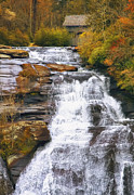 Autumn Woods Prints - High Falls Print by Scott Norris