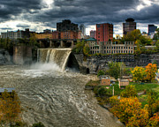 Rochester Skyline Framed Prints - High Falls Framed Print by Tim Buisman