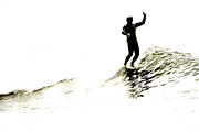 Surf Silhouette Digital Art Framed Prints - High Five Framed Print by Paul Topp