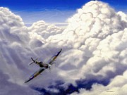 Supermarine Spitfire Posters - High Flight Poster by Michael Swanson