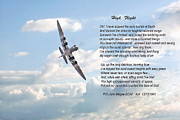 Poem Prints - High Flight Print by Pat Speirs