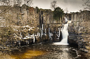 River Tees Prints - High Force Waterfall Print by David Head