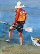 Kayak Paintings - High  Ground by Sandy Linden