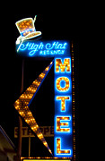 Las Vegas Sign Prints - High Hat Motel in Las Vegas Print by Matthew Bamberg