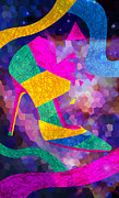 High Heels Artwork For Sale Prints - High Heels On Ropes Print by Kenal Louis