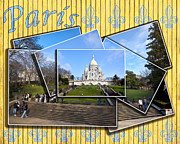 Byzantine Digital Art Prints - High On A Hill In Paris - Sacre Coeur Print by Mark E Tisdale