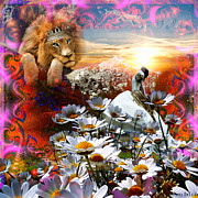Lion Of Judah Posters - High Places Poster by Dolores DeVelde