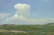 Yellowstone Paintings - High Plains Big Sky by Terry Guyer