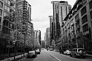 Overcast Day Photo Prints - high rise apartment condo blocks in the west end west pender street Vancouver BC Canada Print by Joe Fox