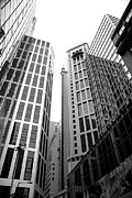 Business-travel Framed Prints - High rise building in the financial center of Hong Kong Framed Print by Ivy Ho