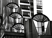 Bill Gallagher Photography Prints - High Rise in Black and White Print by Bill Gallagher