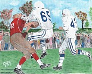Team Paintings - High School Football by Cliff Wilson