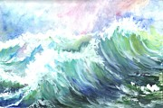 Contest Painting Prints - High Seas Print by Carol Wisniewski