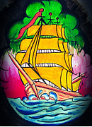 Pirate Ship Posters - High Seas  Poster by Ryno Worm  Tattoos