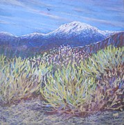 Snow-covered Landscape Painting Posters - High Sierra Afternoon Poster by Suzanne McKay