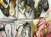 Dressing Room Paintings - High Steppin by Donna MacLure