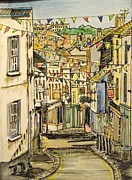 Townscape Mixed Media - High Street Falmouth Cornwall by Jayne Nemeth Scouse