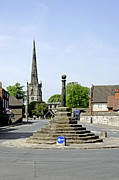 Derbyshire Cross Prints - High Street to Willington Road - Repton Print by Rod Johnson