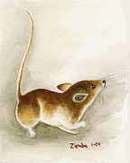 Lori Ziemba Framed Prints - High Tail Mouse Framed Print by Lori Ziemba