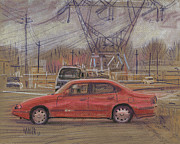 Power Paintings - High Tension Lines by Donald Maier