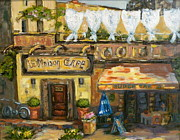 Provence Village Prints - High Time in Lourmarin Print by Patsy Walton