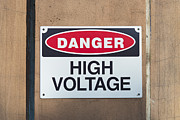 Energy Conversion Prints - High Voltage Sign Print by Hans Engbers