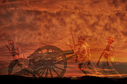 Battle Of Gettysburg Digital Art Posters - High Water Mark Sunset Poster by Randy Steele