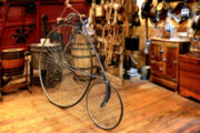 Country Store Posters - High Wheel Penny-farthing Bike Poster by Christine Till