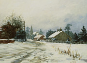 Featured Framed Prints - Higham Winter 86 Framed Print by Vic Trevett