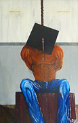 Debt Painting Metal Prints - Higher Education Metal Print by Douglas Keen