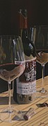 Wine Oil Paintings - Higher Heitz by Brien Cole