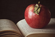 Apple Still Life Art - Higher Learning by Amy Weiss