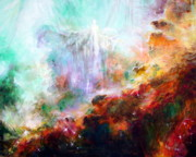 Swan Nebula Paintings - Higher Self by Heather Calderon