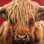 Highland Cow Art - Highland Cow by Leigh Banks
