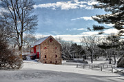 Highland Farms In The Snow Print by Bill Cannon