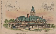 Victorian Inn Prints - Highland Inn York Pennsylvania 1893 Print by JA Dempwolf