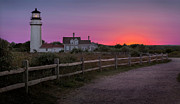 New England Lighthouse Photo Posters - Highland Light Poster by Bill  Wakeley