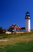 Cape Cod Mass Metal Prints - Highland Or Cape Cod Lighthouse Metal Print by Skip Willits