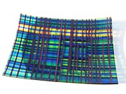 Scottish Glass Art - Highland Plaid by T  Robert Darrough