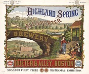 Beer Drawings Prints - Highland Spring Brewery Print by Pg Reproductions