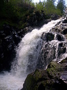 Highland Waterfall Print by R McLellan