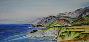 Big Sur Beach Originals - Highway 1 at Big Sur by Barbara Gilroy